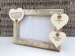 Shabby personalised Chic Photo Frame In Memory Of A Husband ~ Loved One Any Name - 332867330755